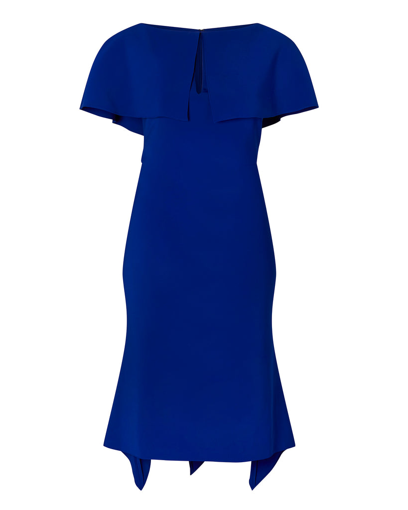 Crepe Dress with Swing Hem
