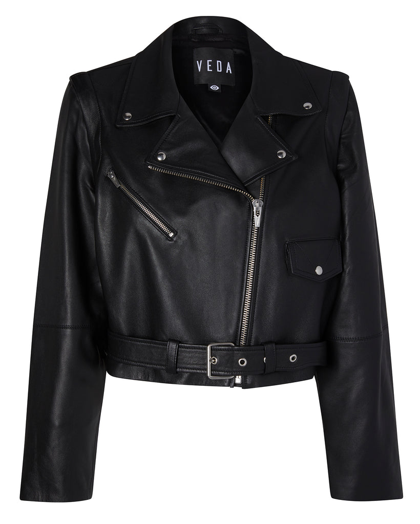 Baby Jane Zip-Off Smooth Leather Jacket