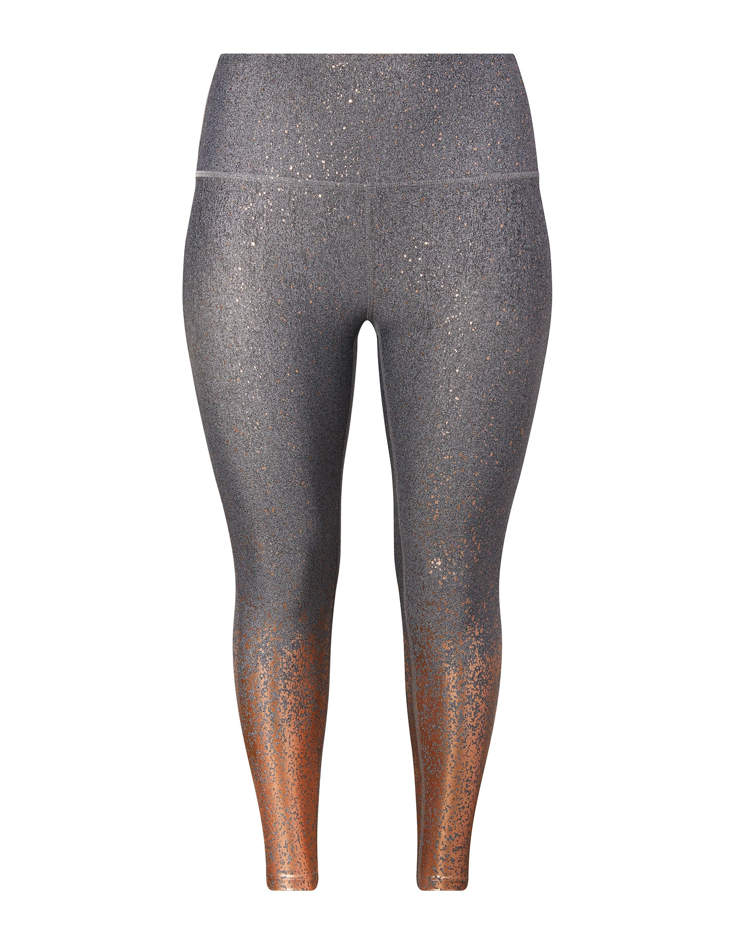 5c9a11d66c Beyond Yoga Black-White Rose Gold Speckle Alloy Ombre High Waisted Midi  Legging – 11 Honoré