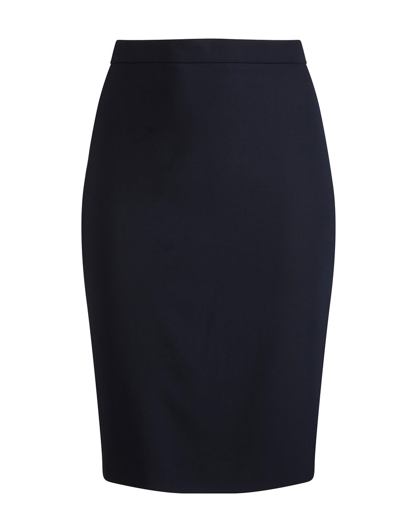 Textured Crepe Pencil Skirt