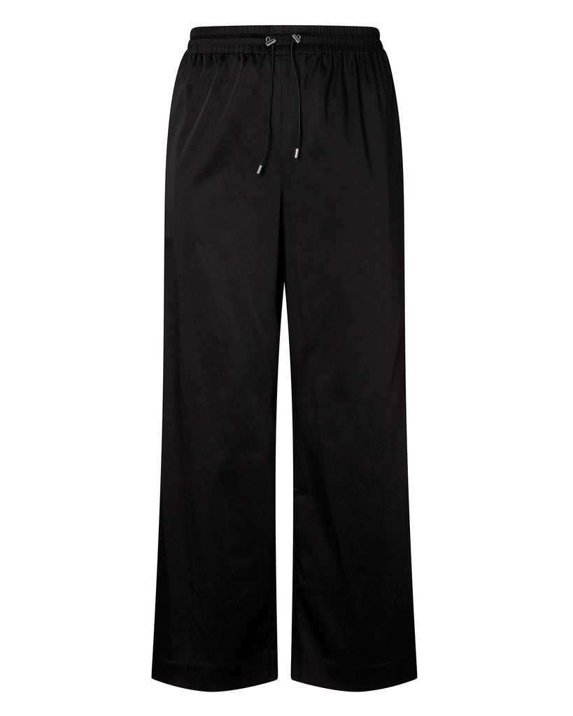 Exclusive Satin Side Slit Button Track Pant