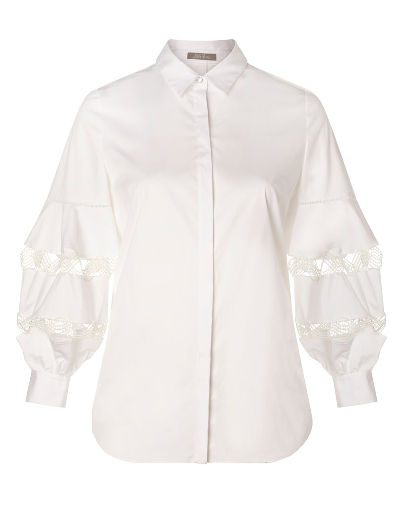Wave Trim Full Sleeve Shirt