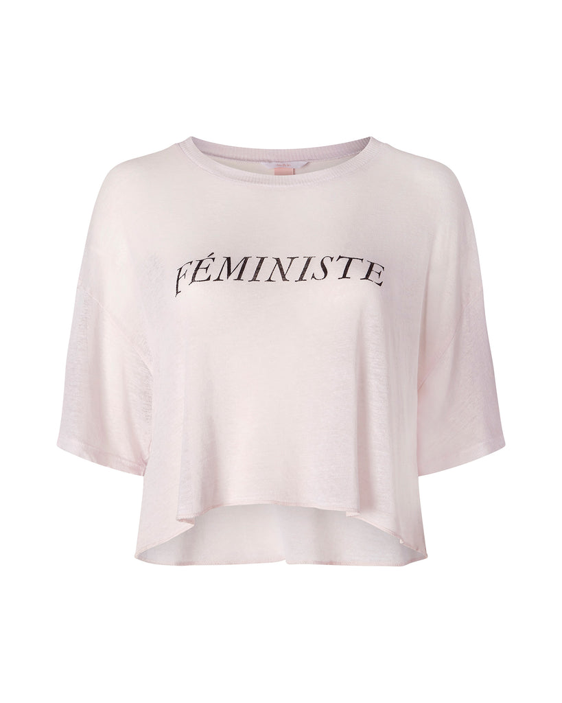 "Cropped ""Feministe"" Tee"