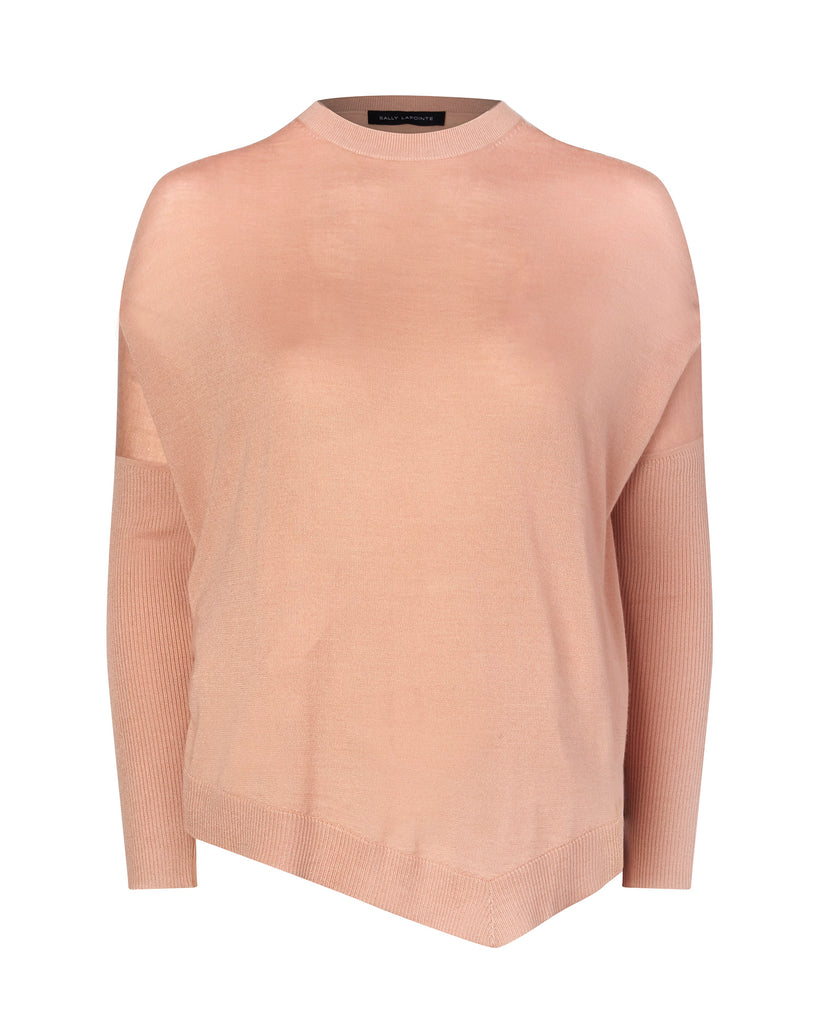 Lightweight Cashmere Silk Asymmetrical Sweater