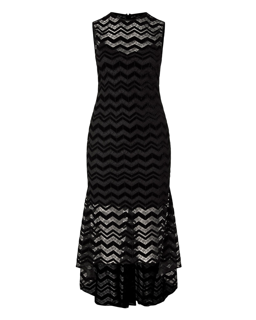 Zig Zag Velvet Dress