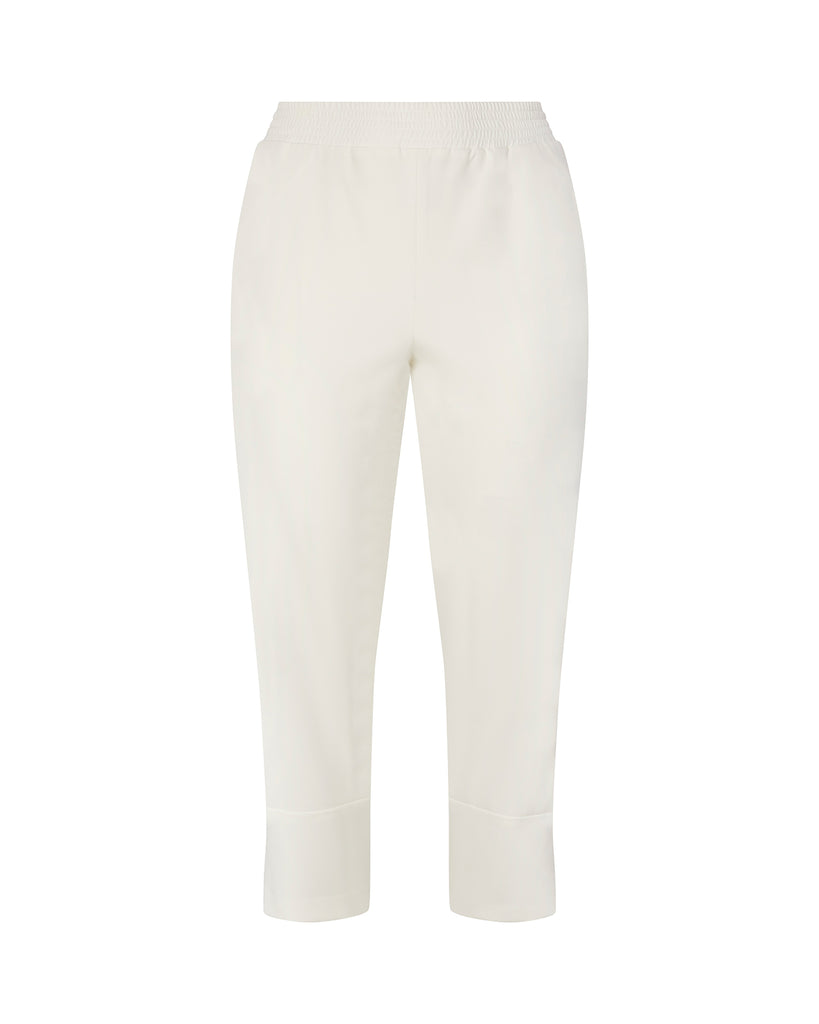 Stretch Satin Tapered Track Pant