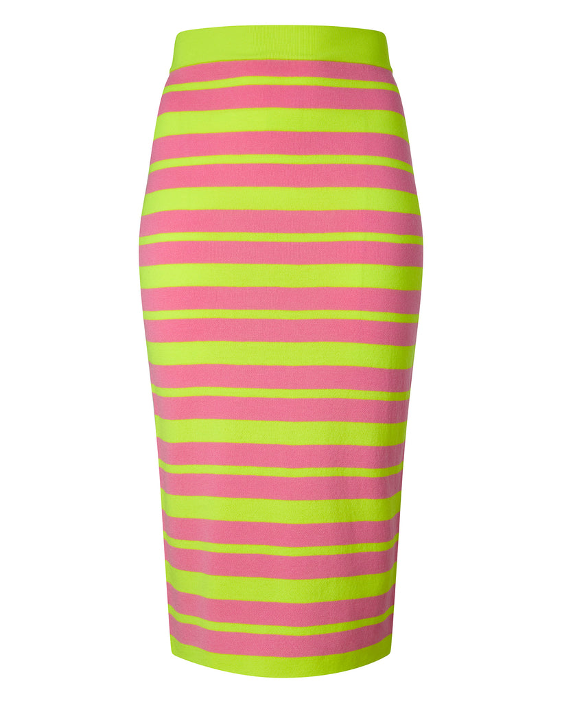 Long Striped Bodycon Skirt