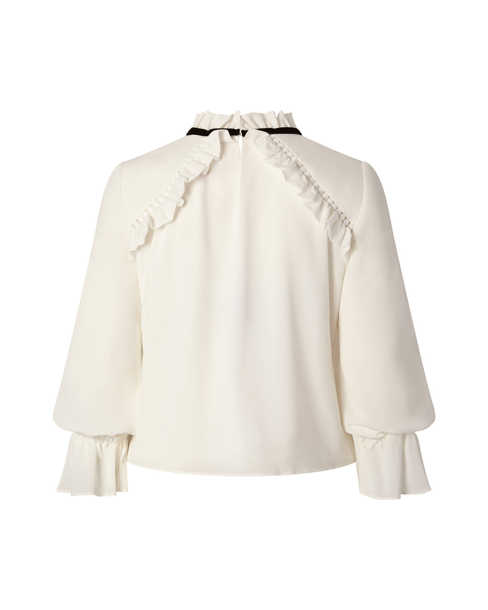Long Sleeve Blouse with Ruffle