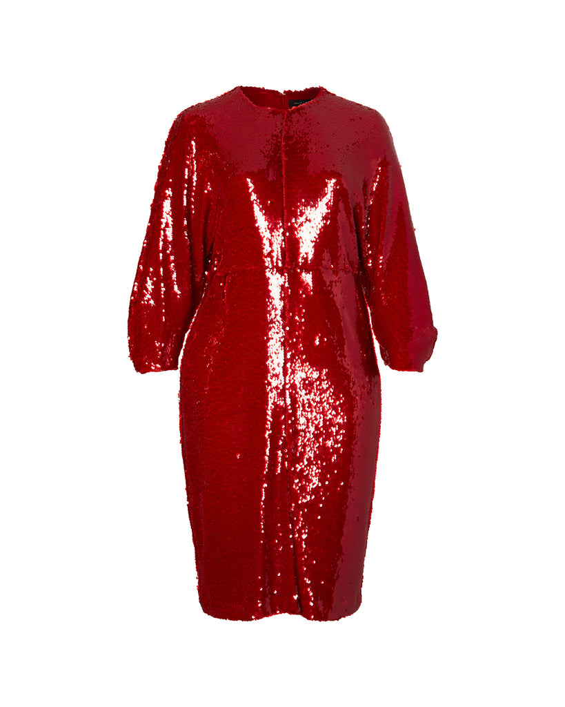 Stretch Sequins Dolman Dress