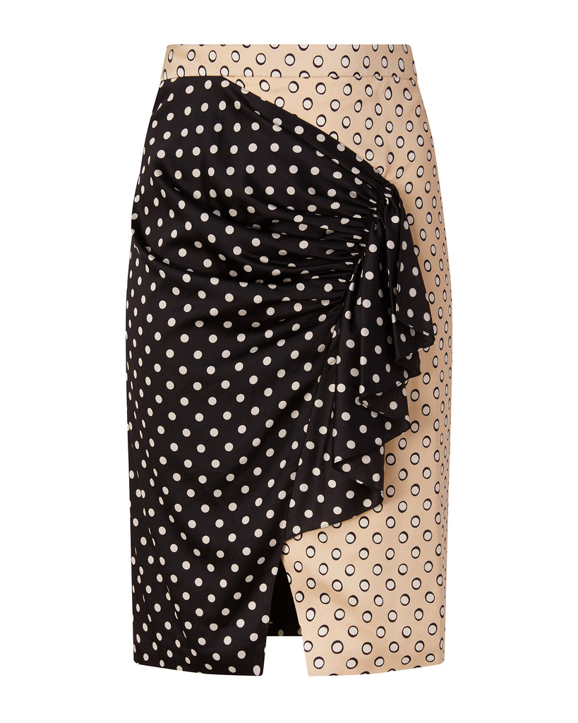 Mixed Polkadot Skirt