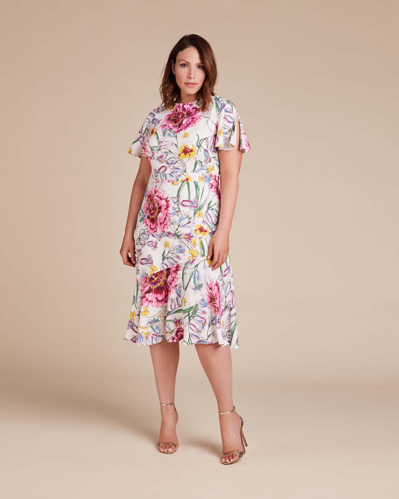 Victoria Flutter Sleeve Dress