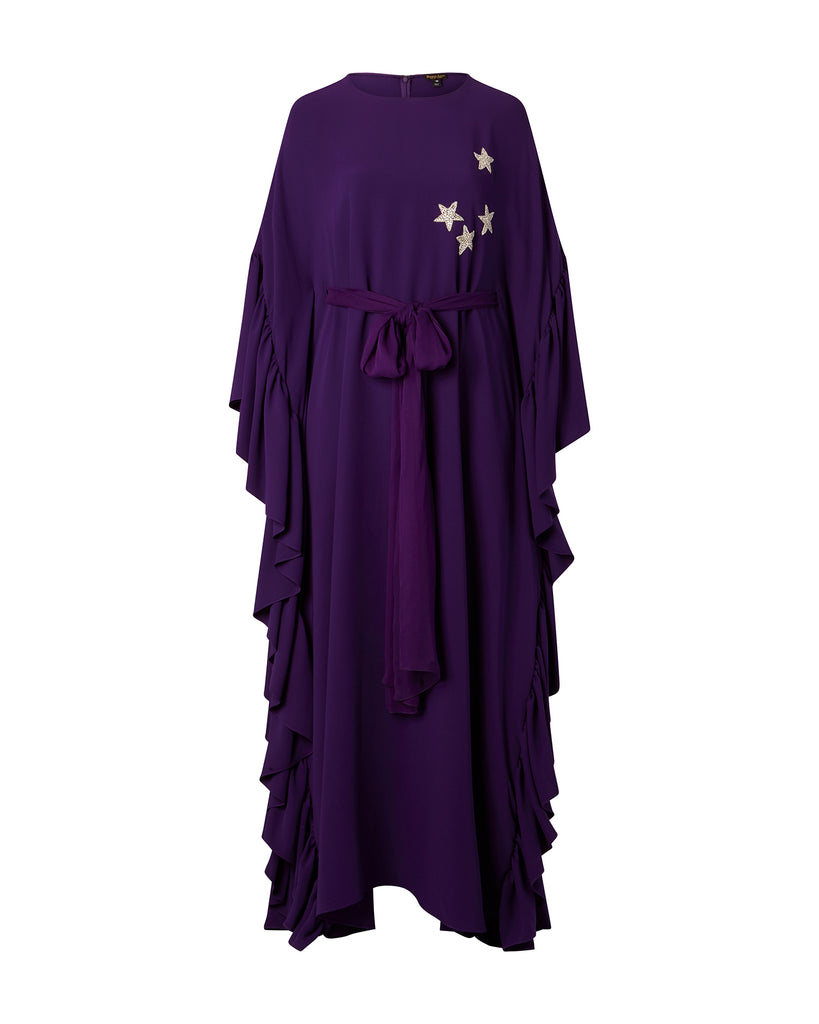 Georgette Caftan with Ruffle