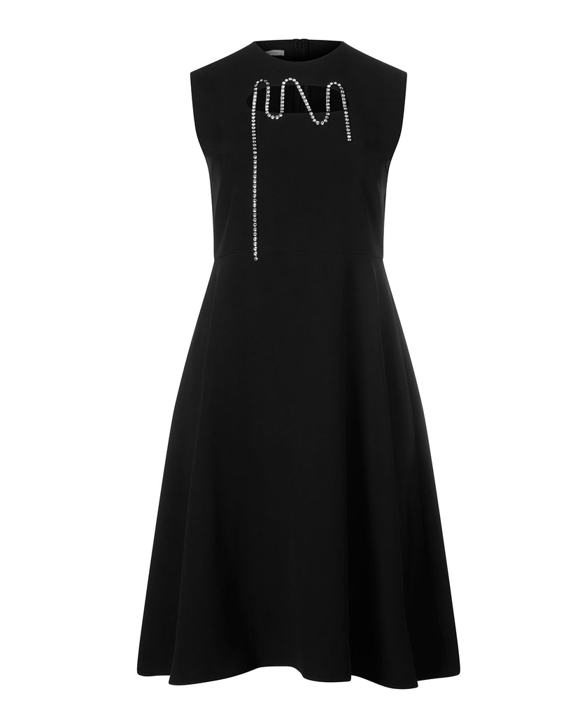 Squiggle Cupchain Crepe Dress