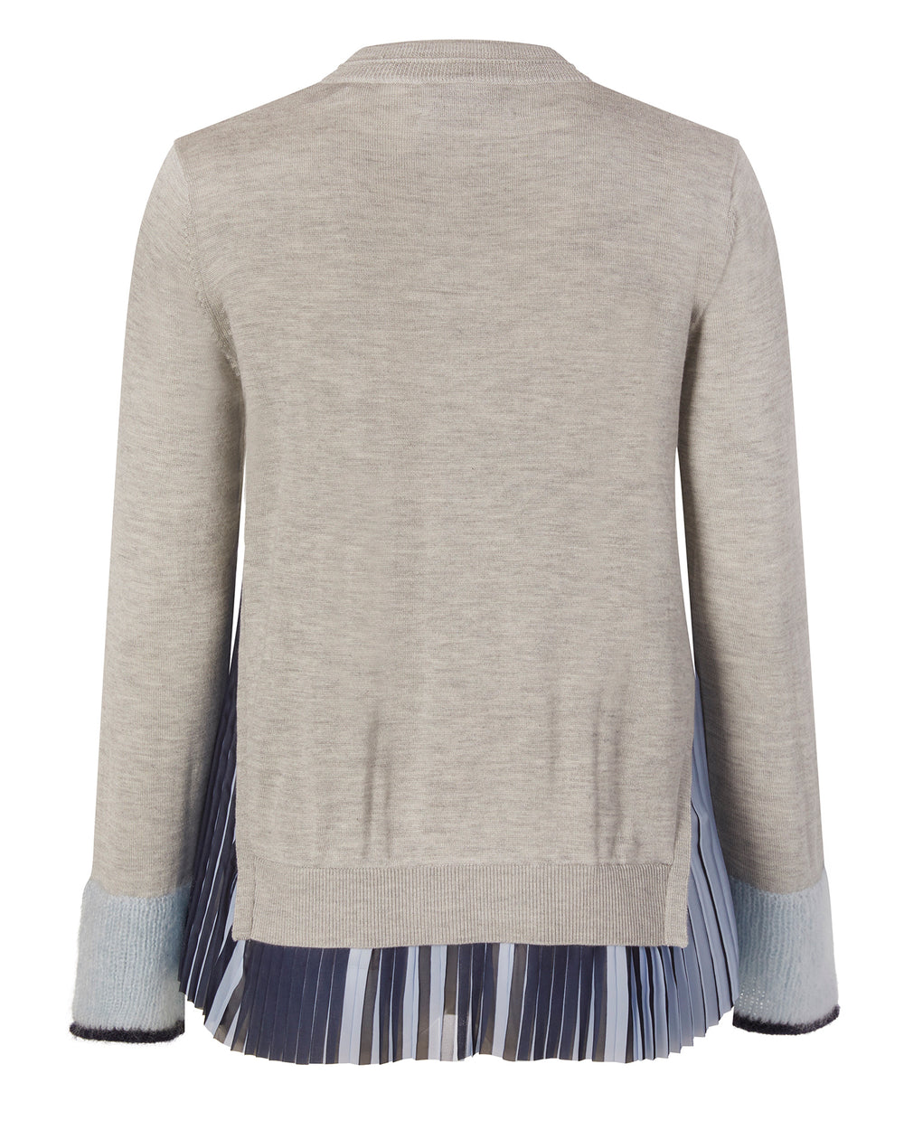 Woven Combo Silk Cashmere Sweater