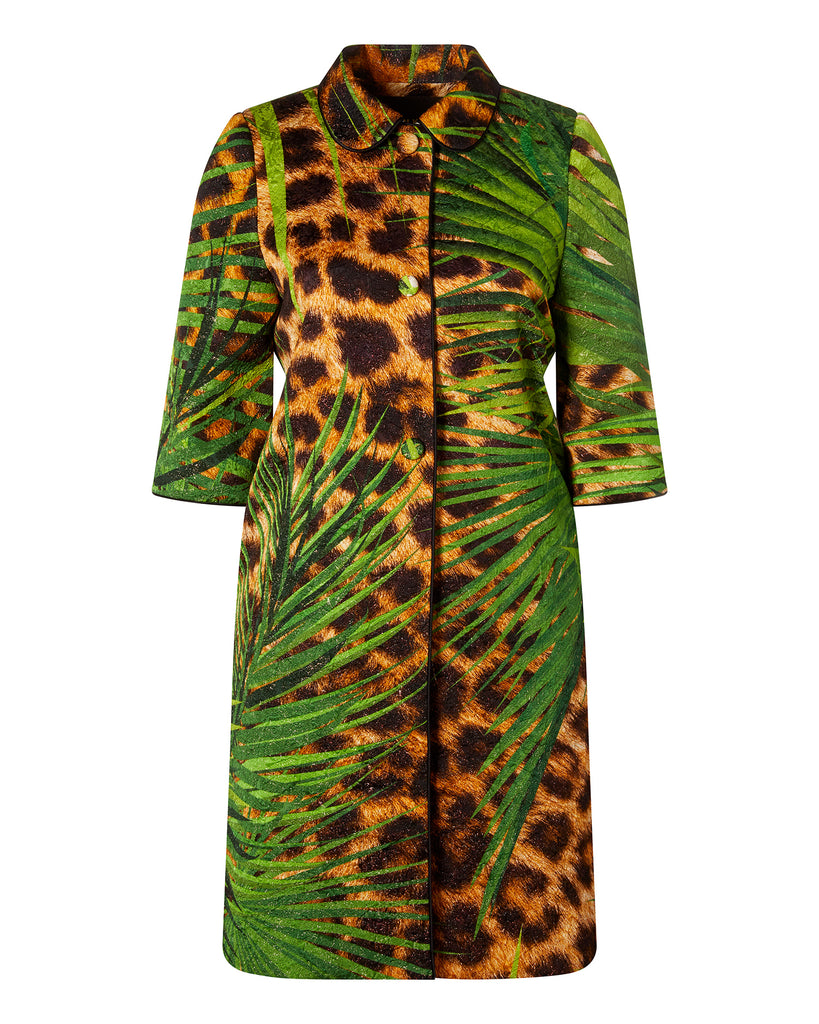 Jungle Print Overcoat