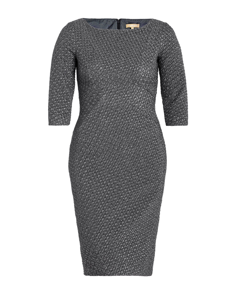 Metallic Jacquard Stretch Dress
