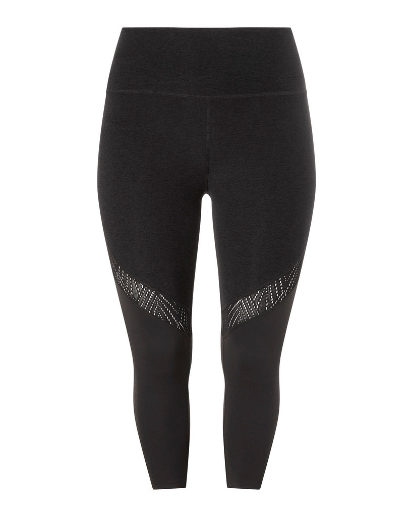 Tri-Panel High-Waisted Midi Legging