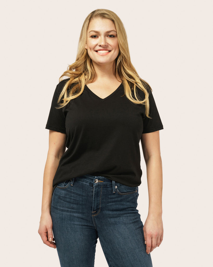 V-Neck Pima Cotton T-Shirt