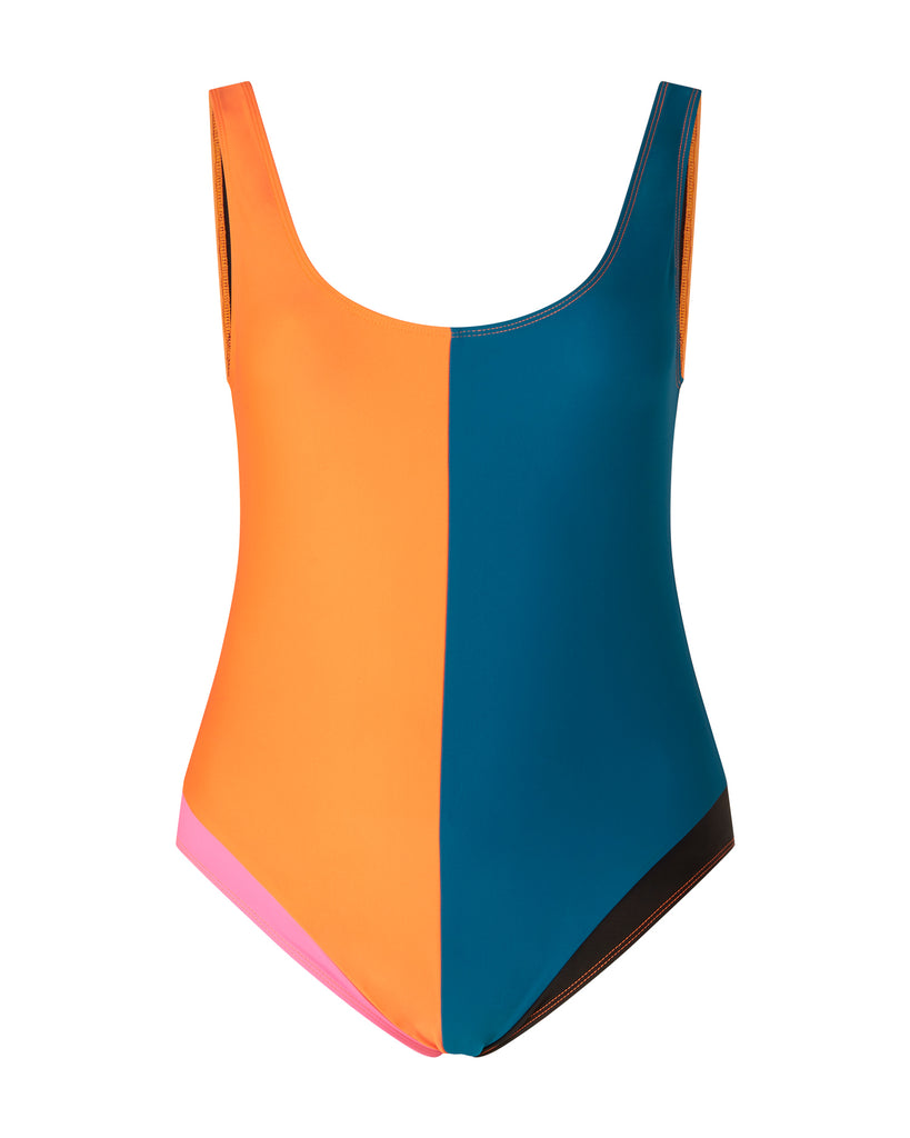 Colorblock One Piece Suit
