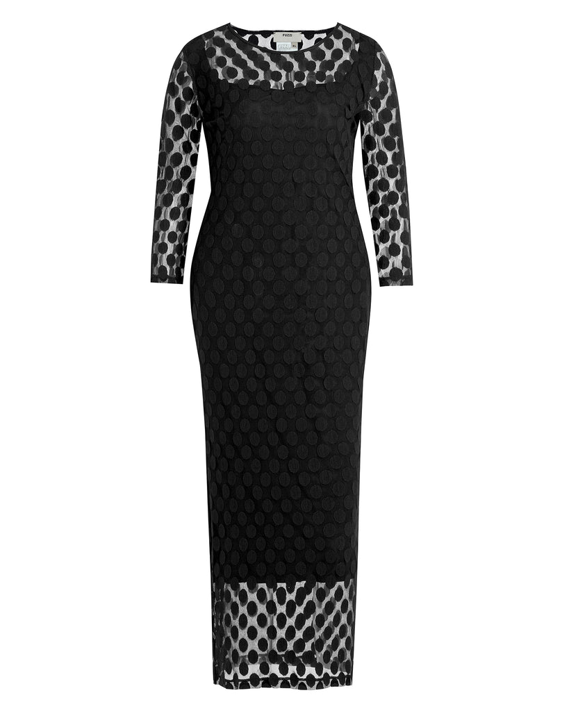 Polka Dot Jacquard Sheath