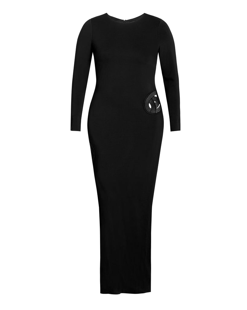 Long Sleeve Gia Gown with Applique