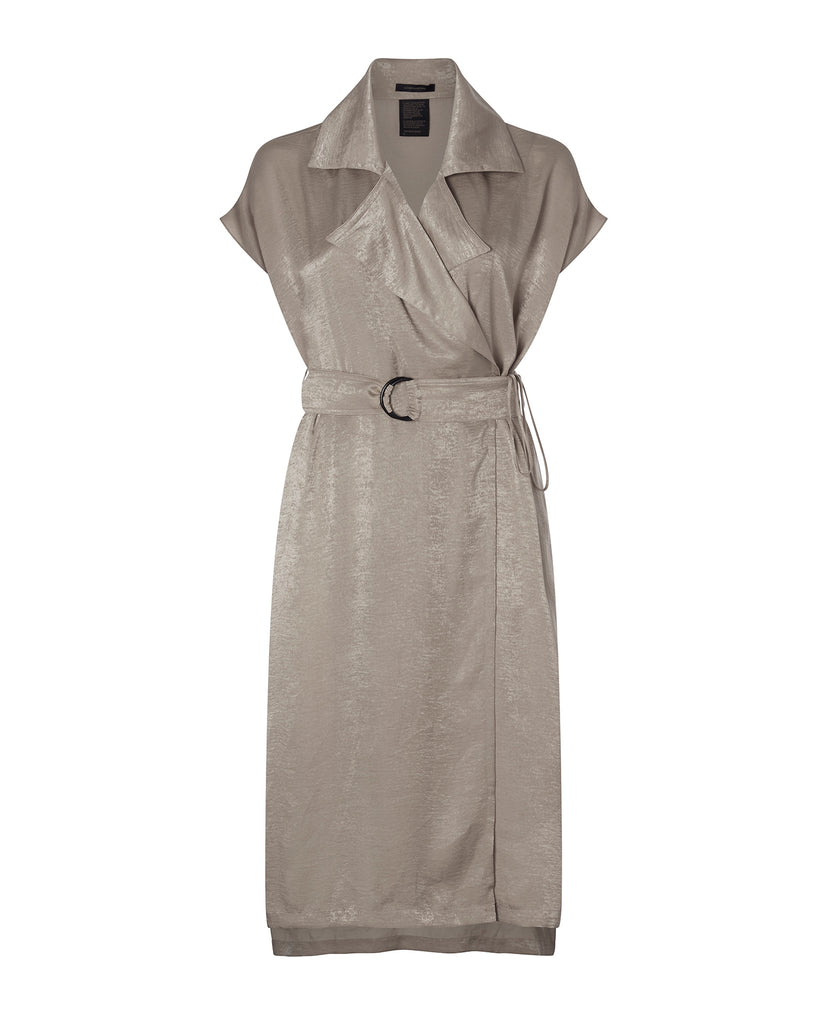 Sleeveless Trench Dress