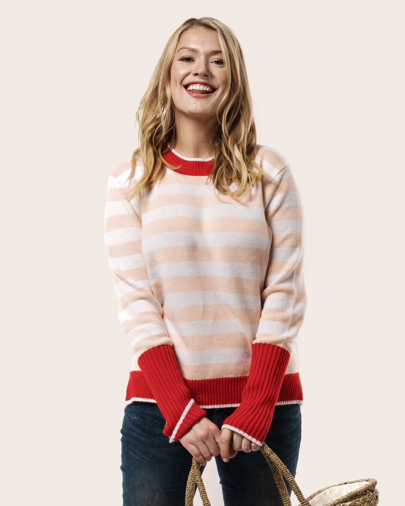 L'amour Striped Sweater