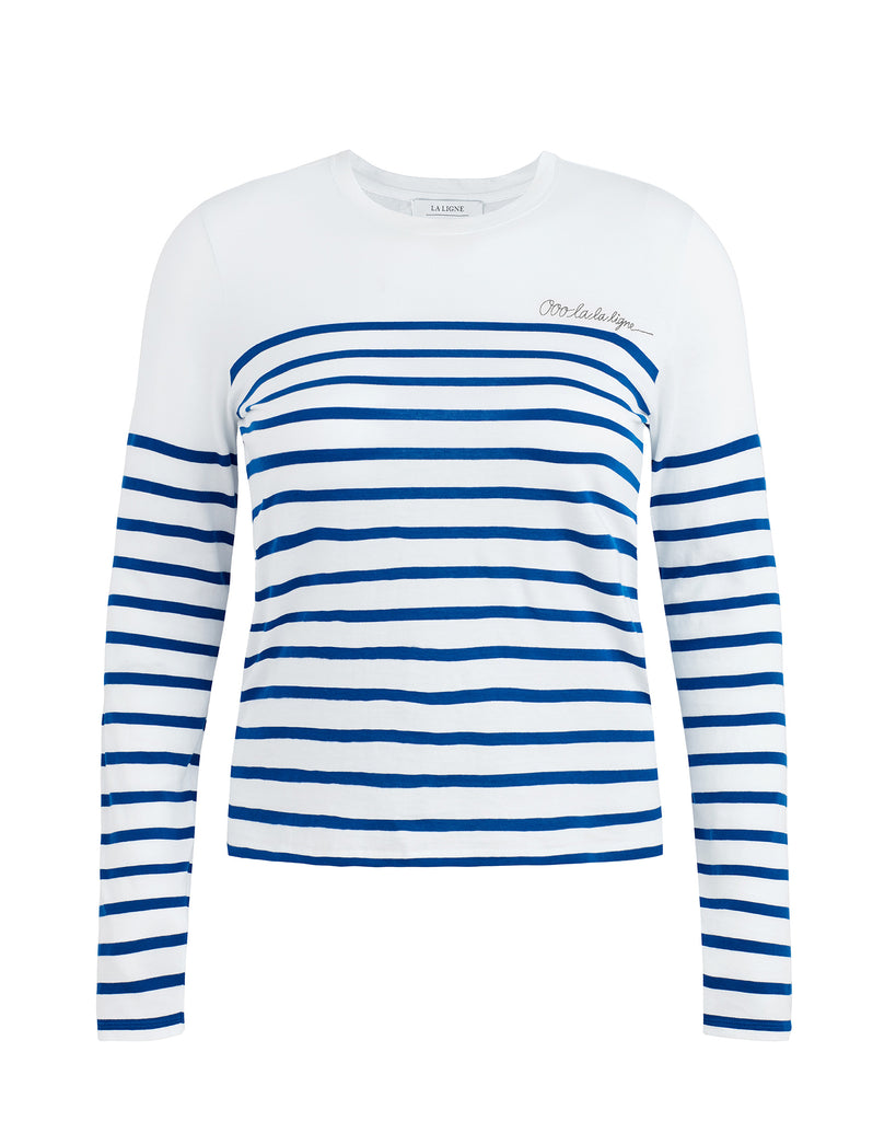 Ooo la la Embroidered Striped T-Shirt