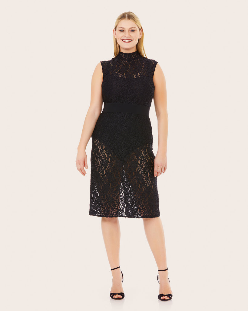 Good Night Black Lace Dress
