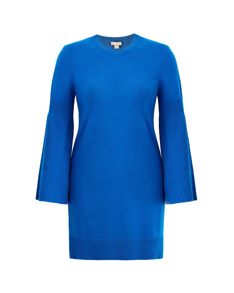 Cashmere Knit Dress with Bell Sleeve