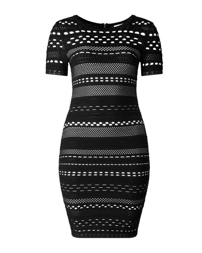 Knit Lace Cutout Sheath Dress