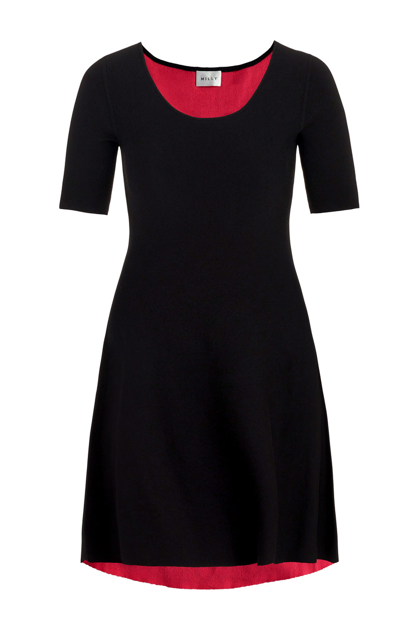 Reversible Contrast Dress