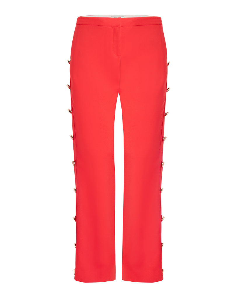 Boot Cut Pant with Gold Buttons