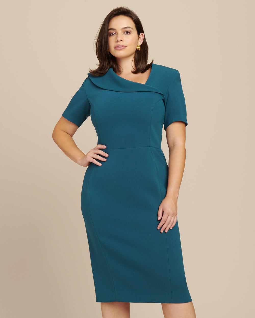 Bonded Crepe Cocktail Dress