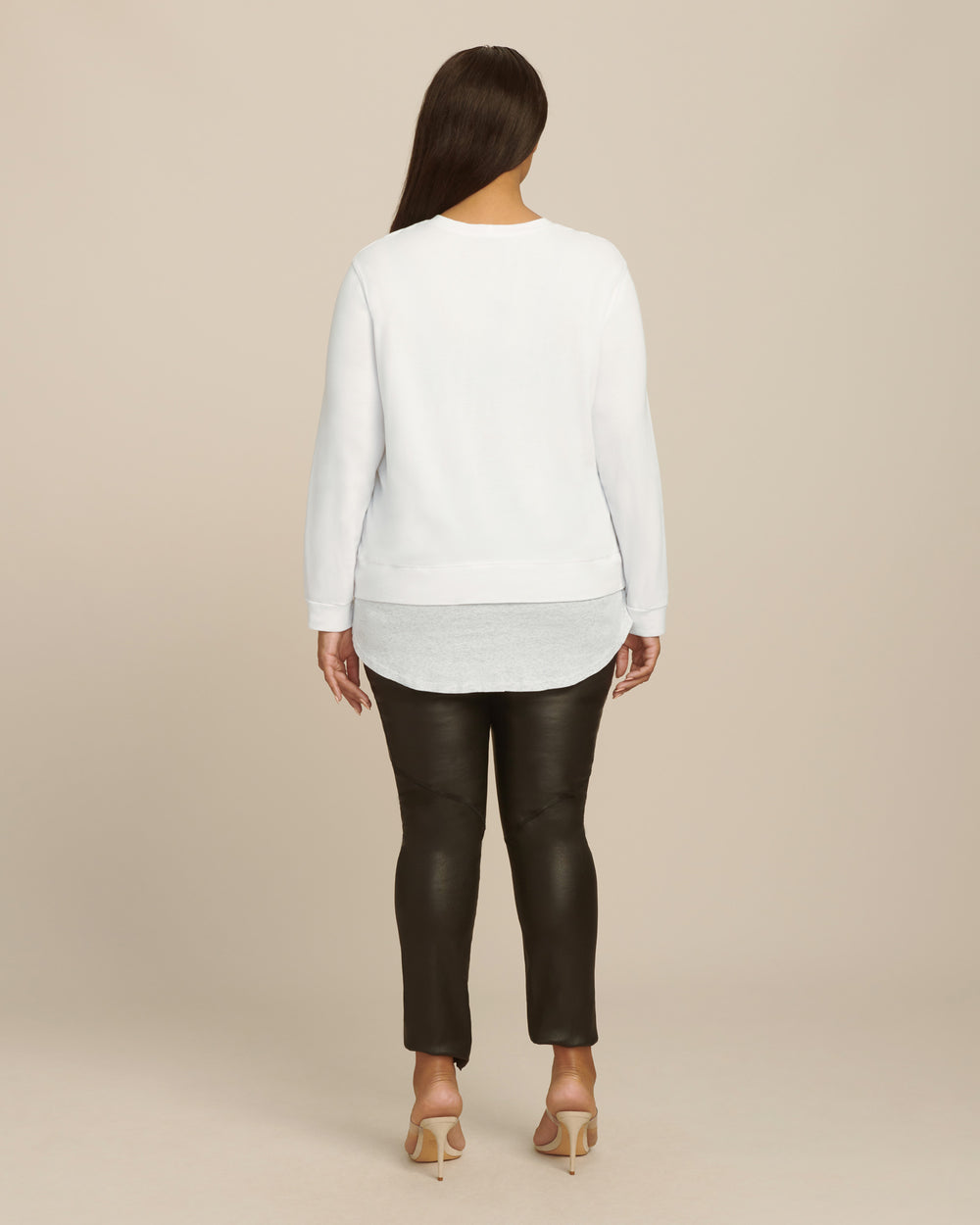 Sweatshirt with Rib Baseball Hem