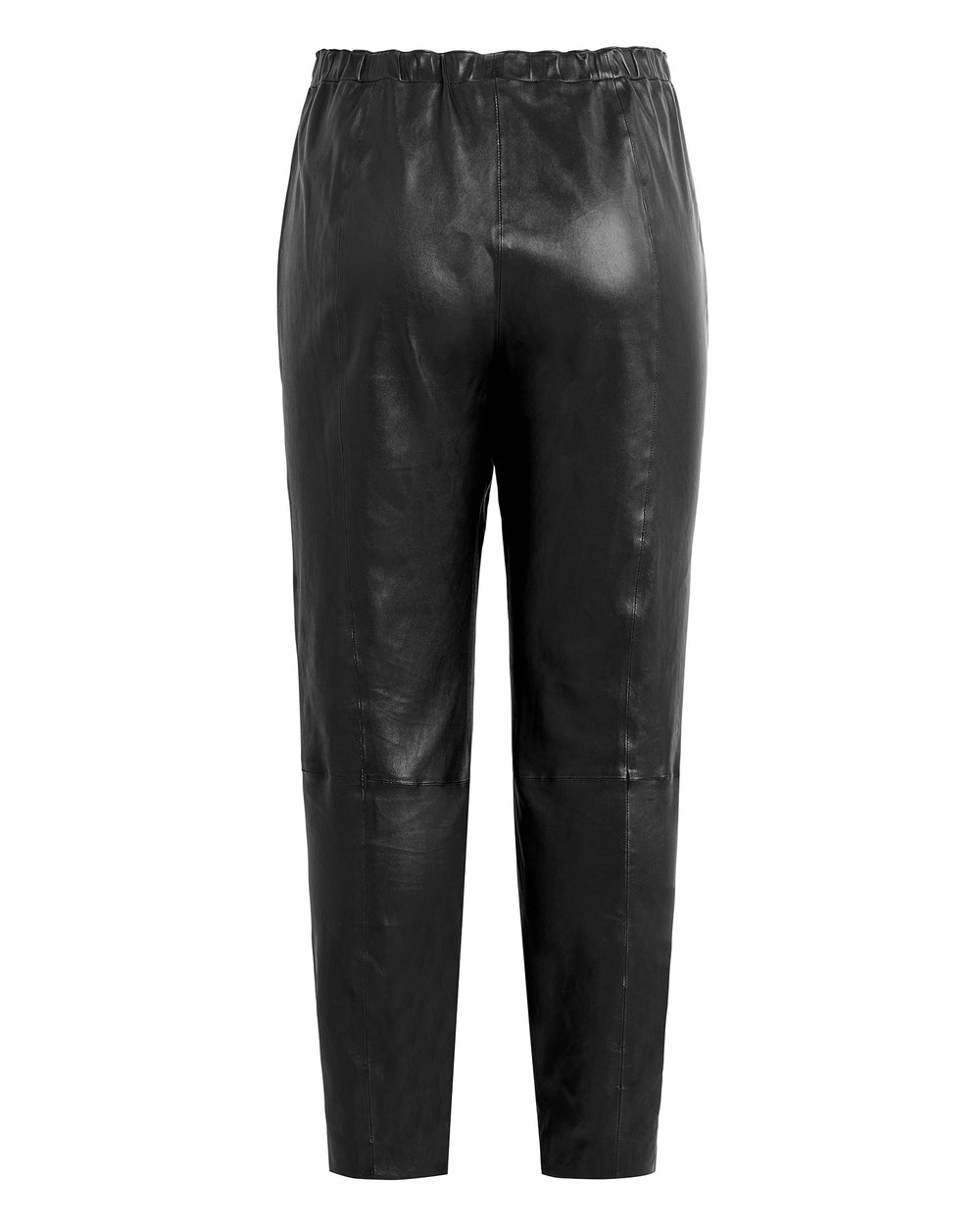 Nappa Leather Stretch Leggings w/ Zipper