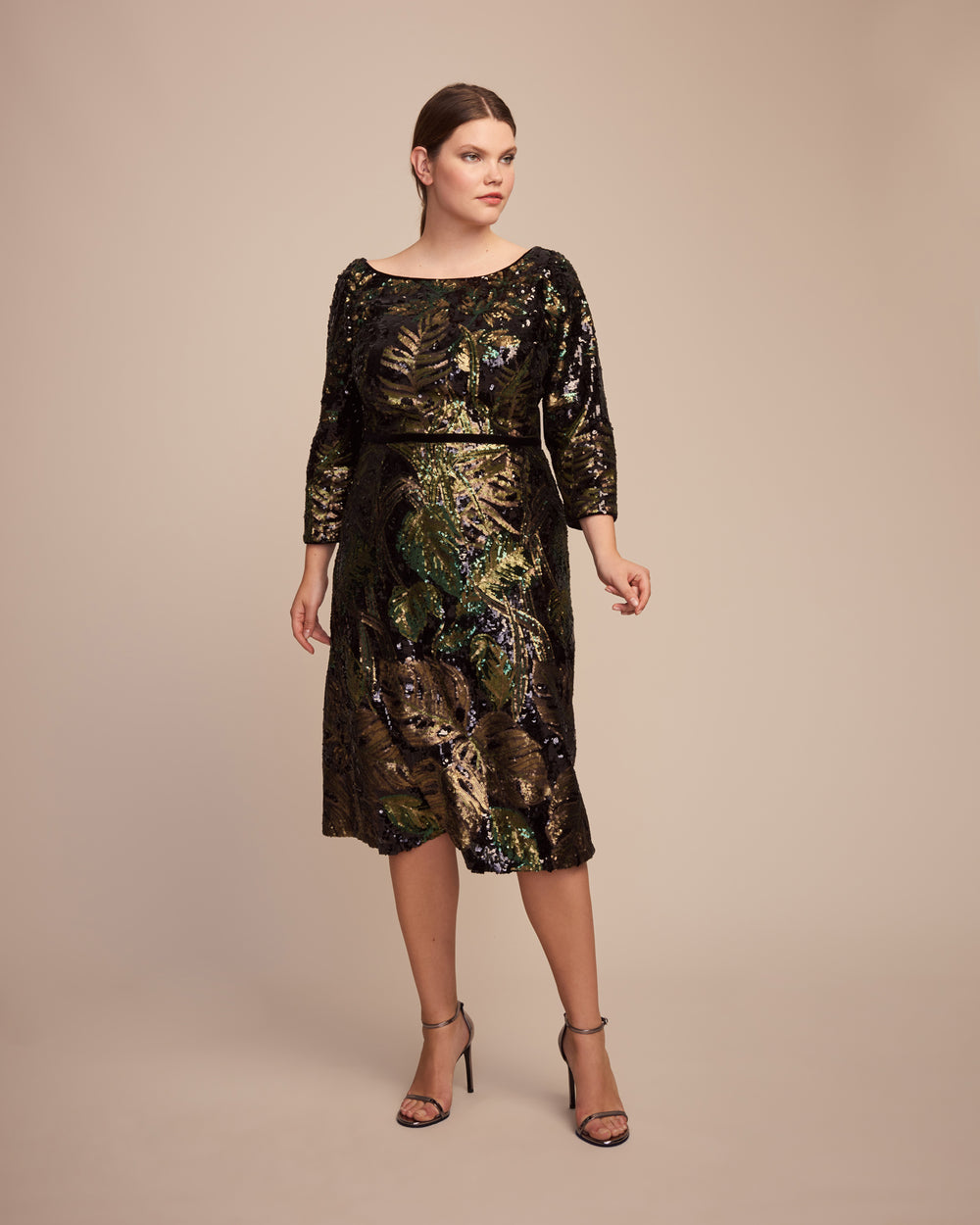 0b4ecbed30c Marchesa Notte Black Sequin Tea-Length Cocktail Dress – 11 Honoré