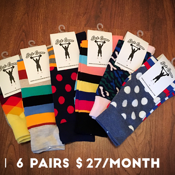 6 Pairs of Socks for $27/Month