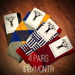 4 Pairs of Socks for $18/Month
