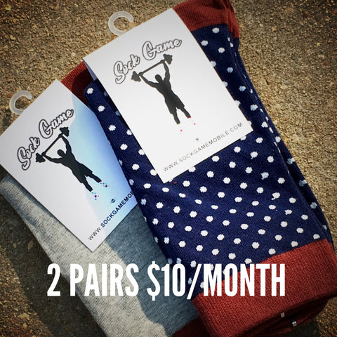 2 Pairs of Socks for $10/Month
