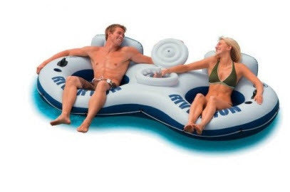 Air Time 2 Person River Tube With Cooler