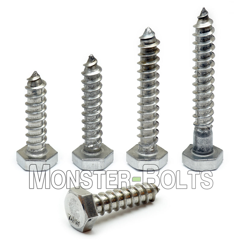 "1/4"" Stainless Steel Hex Lag Bolts / Lag Screws, 18-8 / A2 - Monster Bolts"