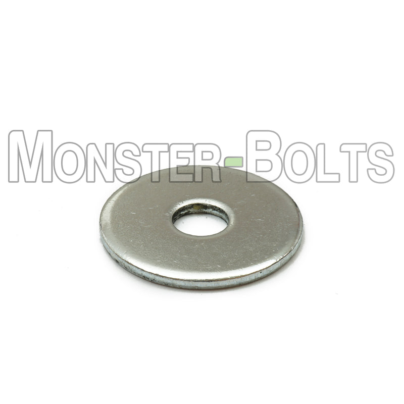 US / Inch - Fender Washers, Cr+3 Zinc Plated Steel - Monster Bolts