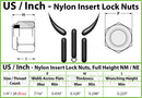 U.S. / Inch - Nylon Insert Hex Lock Nuts - Steel with Black Phosphate