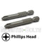 "2-Inch Phillips Drive Bits 1/4"" Hex Shank Screwdriver / Drill Bits, S2 Steel - Monster Bolts"