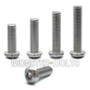 M6 Button Head Socket Cap screws, Stainless Steel A2 (18-8) - Monster Bolts