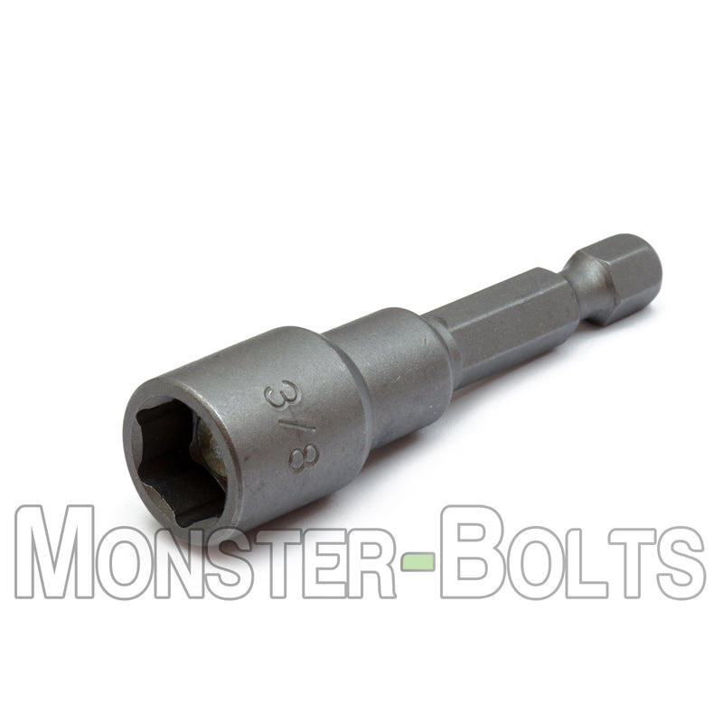 "3/8"" Magnetic Nutsetters, 1/4"" Hex Power Shank w/ Industrial Grade Magnet - Monster Bolts"