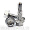 "#14 (1/4"") Hardened Stainless Steel Tek Screws - Indent HWH Hex Washer Head Unsloted, #3 Point Self Drilling - Monster Bolts"
