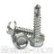 #12 Hardened Stainless Steel Tek Screws - Indent HWH Hex Washer Head Unsloted, #3 Point Self Drilling - Monster Bolts