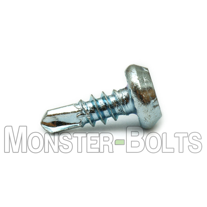"#7 x 7/16"" Pan Framing Head Phillips, #2 Point Self-Drilling Screws, Zinc CR+3"